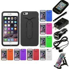 For iPhone 6/6S Plus [5.5] Hybrid Silicone Kickstand Shockproof Case Access