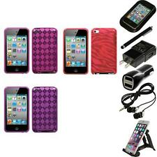 For Apple iPod Touch 4th Gen TPU Rubber Skin Flexible Case Cover Accessorie