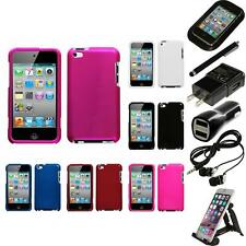 For Apple iPod Touch 4th Gen Rigid Plastic Hard Snap-On Case Cover Accessor