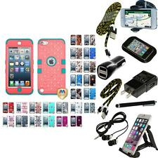For iPod Touch 5th 6th Generation Hybrid TUFF IMPACT ARMOR Cover Case + Bun