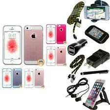 For Apple iPhone 5/5S/SE TPU Spots Rubber Skin Case Phone Cover + Bundle