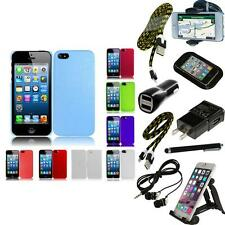 For Apple iPhone 5/5S/SE Snap-On Design Hard Phone Case Cover + Bundle