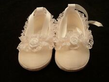 BABY GIRL CHRISTENING SHOES WHITE OR CREAM FROM BIRTH TO 12MTHS