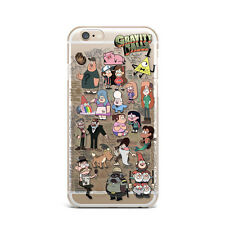 Gravity Falls Cartoon Art Doodle Silicone Rubber Gel Case For IPhone 4S 5S