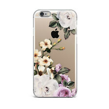Retro White Flower Floral Art Silicone Rubber Gel Case For IPhone 4S 5S 6S