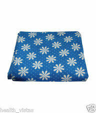 Quick Dry Waterproof Bed Protector Sheet – Blue Flower