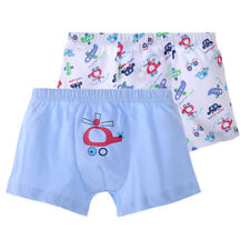 2pcs Boys Children Cotton Boxer Briefs Shorts Knickers Kids Underwear 3-8 Years