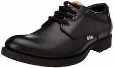 Lee Cooper Brand Mens Black Laced Leather Causal Shoes LC9518