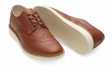 Toms Men's Brogue Brown Full Grain Leather Shoes Sizes 7-13