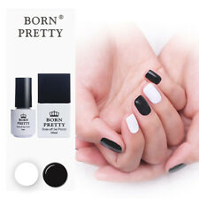 2pcs Born Pretty Black & White Soak Off UV Gel Polish Base Top Coat Varnish