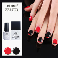 2pcs Born Pretty Black & Red Soak Off UV Gel Polish Kit Base Top Coat Manicure