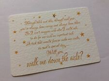 WILL YOU BE MY  - walk me down the aisle card & envelope + other variations