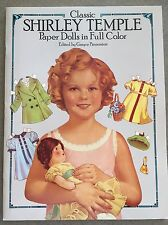 New Shirley Temple Classic Paper Dolls by Dover Publications, 1986