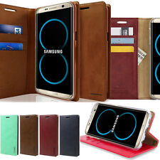 For Samsung Galaxy S8 Case Slim Retro Flip leather Folio wallet Stand Case