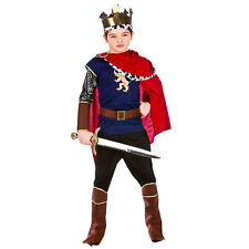 Boys Deluxe Medieval King Costume Historic Ancient Middle Ages Fancy Dress