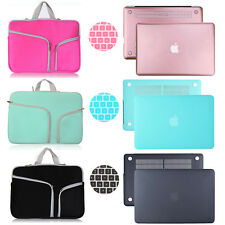"""Sleeve Carry Bag+Hard Case Shell Cover for MacBook Air Pro 11 13"""" Retina 12"""