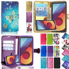 Leather Stand Flip Wallet Cover Phone Case For Various LG SmartPhones + Stylus