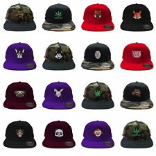 Mens Snapback Cap Retro Six Panel Hipster Animal Stoner Fishing Baseball Cap