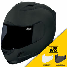 Icon Alliance Oscuro Casco Moto Moto Dark Gratis Visor Humo