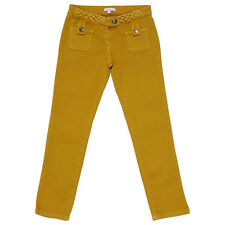 Chloé jeans in denim stretch giallo senape