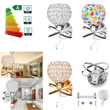Modern Crystal E14 LED Wall Sconce Lamp Fixture Bedroom Bedside LivingRoom Light