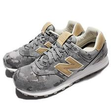 New Balance ML574CMAD Grey Khaki Leather Men Running Shoes Sneakers ML574CMAD