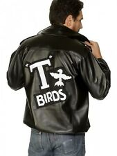 Men's T Bird Jacket Grease Danny T-Birds 1950s Fancy Dress Costume Adult Outfit