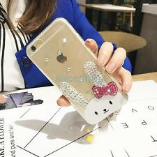 Cute Crystal Big Ear Rabbit Transparent Soft Case Cover for iPhone 7 7 Plus 6 6S