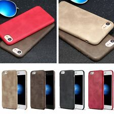 "For Apple iPhone 7 4.7"" Vintage Leather Skin Soft Slim Case Business Phone"