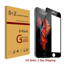 LOT 2PK Premium Full Coverage Tempered Glass Screen Protector For iPhone 6s