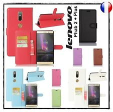 Etui porte cartes coque housse PU leather Wallet case cover LENOVO Phab 2 + Plus