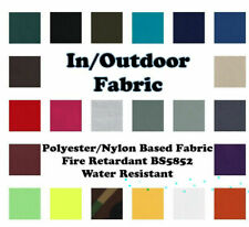 Indoor / Outdoor Fabric - Polyester / Nylon based  -  Fire & Water Resistant