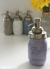 Vintage/Shabby Chic Ball Mason Jar Soap Dispenser - Grey, Lilac, Blue or White