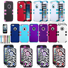 TUFF Hybrid Hard Soft Protective Shockproof Case Cover For Apple iPhone 5 5