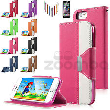 Luxury Magnetic Flip Cover Stand Wallet PU Leather Case For Apple iPhone 6S