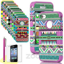 New Tribal Aztec Pattern Skin Hybrid Hard Back Case Cover For Apple iPhone