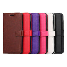 Plain Leather Wallet Book Case with card slot For Samsung Galaxy S8 or S8 Plus