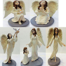 Large Divine Guardian Angel with Wings Ornament Figurine Praying Blessing Love