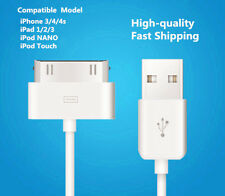 NEW 30-Pin USB Charge Sync Cable Charger OEM for iPhone 3 3G 4 4s/ ipod