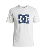 DC Star Logo T-Shirt Heather Grey/Navy Men'S Skateboard T-Shirt size S-XXL