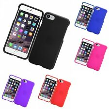 For Apple iPhone 7 Hard Snap-On Rubberized Phone Skin Case Cover