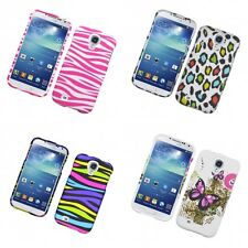 For Samsung Galaxy S4 Hard Phone Case Design Rubberized Snap-On Cover