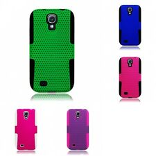 For Samsung Galaxy S4 Case Hard Soft Dual Layer Slim Thin Rugged Mesh Cover