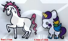 #1180 New Cute Unicorn Iron Sew on Embroidered Patches UK Seller