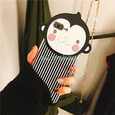 For iPhone 7 7 Plus 6 6S Plus Cute Cartoon Crystal Stripe Monkey Hard Case Cover