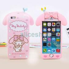 Cute Pink Cartoon My Melody Silicone Soft Case Cover For iPhone 7 7 Plus 6S Plus