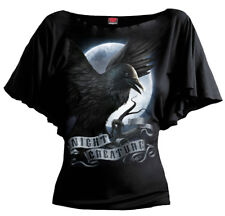 Spiral Night Creature, Boat Neck Bat Sleeve Top Black RRP £19.99|Crow|Gothic