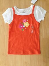 NWT Gymboree Tea Time Afternoon Floral Applique Tee Shirt 4,5 Girls