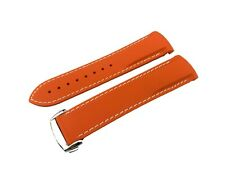 ORANGE/WHITE 22mm Rubber/Silicone STRAP/BAND OMEGA WATCH SeaMaster PLANET OCEAN