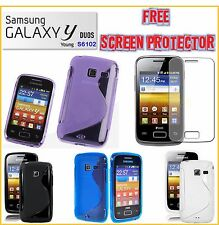 Samsung Galaxy YOUNG Y Duos S6102 TPU S Line Cover case Free Screen Protect